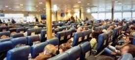 Acomodação dos passageiros no Navio.